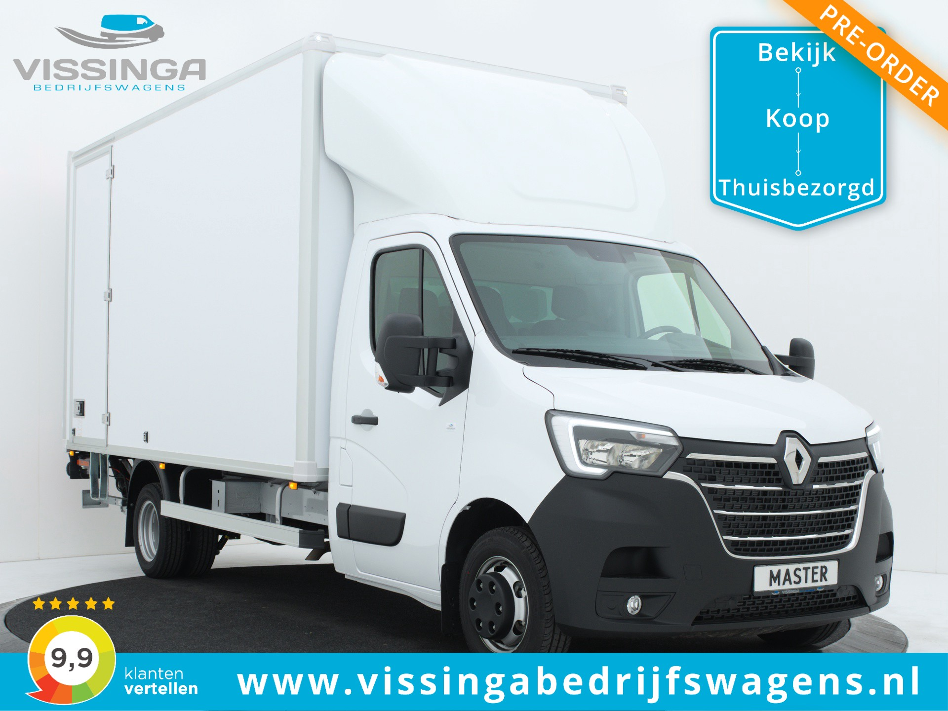 Renault Master RWD 165 pk Bakwagen 440x211x232 (21.5m3)