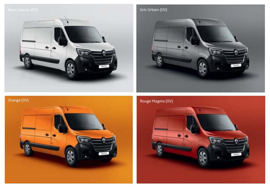 Kleuren Renault Master