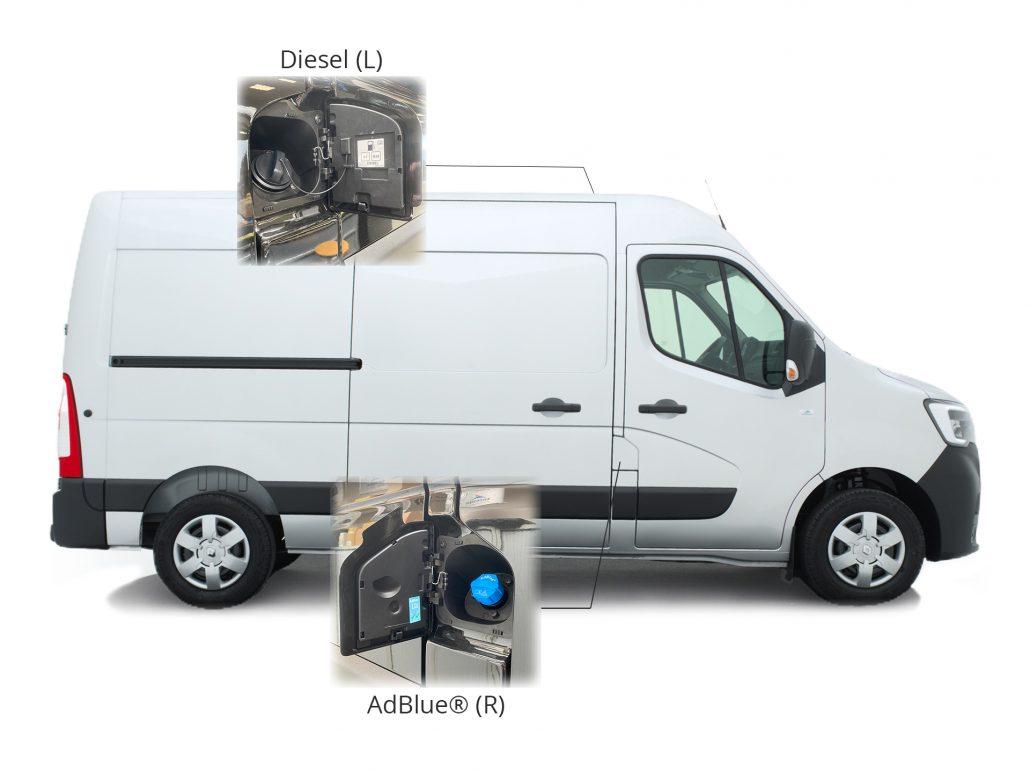 Adblue® tank positie uitleg