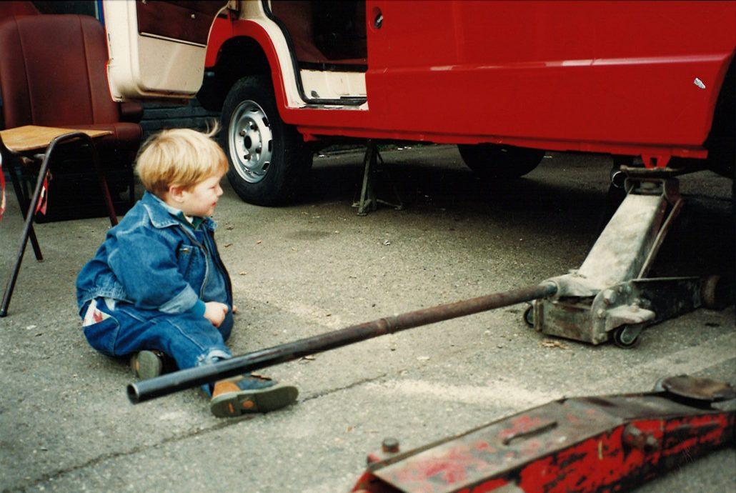 Foto historie - Boris in de garage