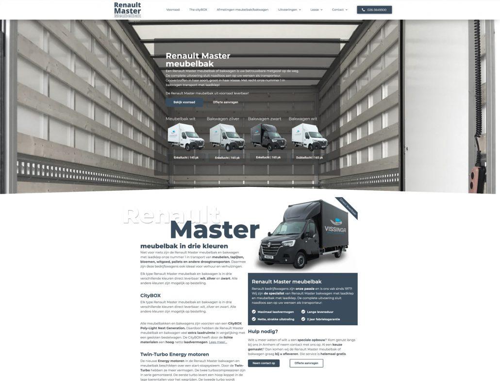 Vissinga bedrijfswagens - Renault Master Meubelbak